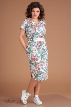 Платье 2561 цветы Мода-Юрс