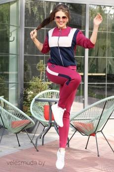 Спортивный костюм 2588 бордо Мода-Юрс