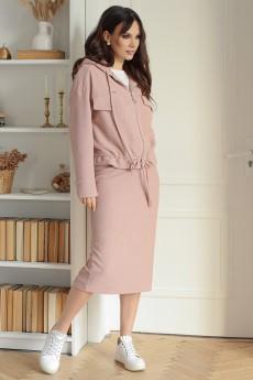 Костюм с юбкой 2642 розовый Мода-Юрс