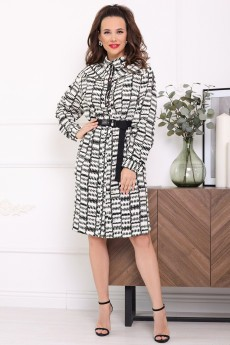 Платье 2643 черно+белый-2 Мода-Юрс