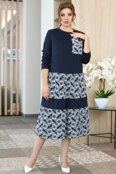 Платье 2652-1 синий Мода-Юрс