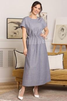 Платье 2658 голубой Мода-Юрс