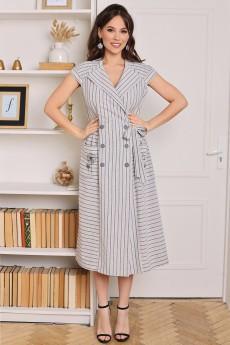 Платье 2679 серый + полоска Мода-Юрс