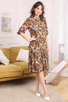 Платье 2681 цветы Мода-Юрс