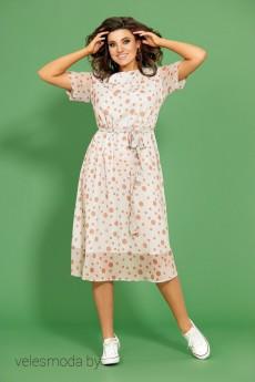 Платье 437 бежевый Мублиз