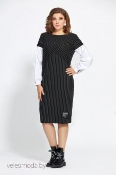 Платье 446 черно-белый Мублиз