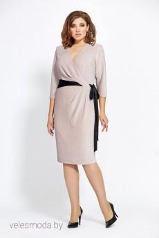 Платье 448 беж+черн Мублиз