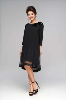 Платье 5487 черный Nika