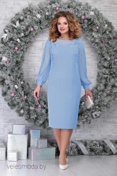 Платье 5815 голубой Ninele