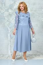 Платье 5849 голубой Ninele