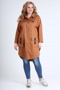 Платье 1521 коричневый Ollsy