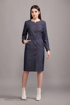 Платье А-08 джинс синий  Olegran
