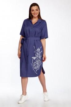Платье 3754 синий Olegran