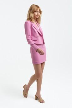 Костюм с юбкой 3117 розовый Pirs