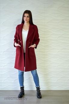 Пальто 3750 бордо Prestige
