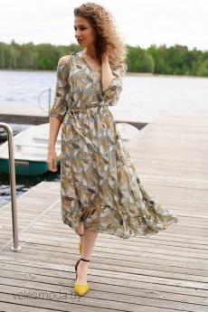 Платье 3896 оливка Prestige