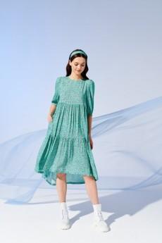 Платье 4052 бирюза Prestige