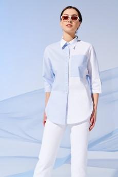 Блузка 4224 белый + полоска Prestige