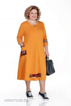 Платье 1040 оранжевый Pretty