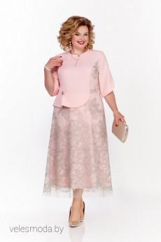 Платье 1132 персиковый Pretty