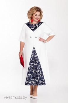 Платье 1147 белый Pretty