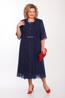 Платье 1159 темно-синий Pretty
