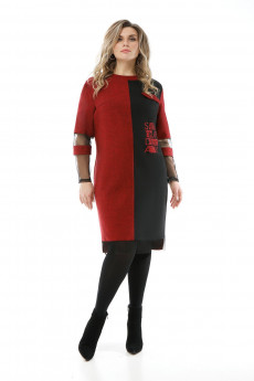 Платье 1892 красно-черный Pretty
