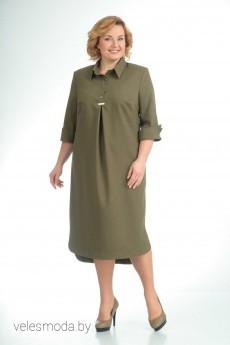 Платье 529 зеленый Pretty