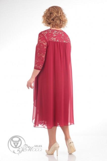 Платье 642 красный Pretty