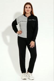Спортивный костюм 12220 серо-черный Prio