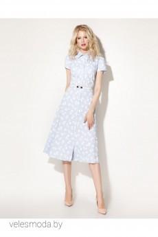 Платье 704180 бело-голубой Prio