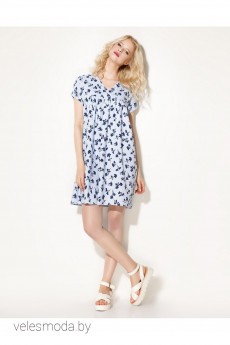 Платье 704380 бело-голубой Prio