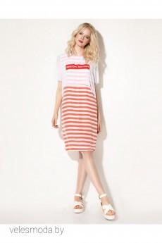 Платье 713980 бело-красный Prio