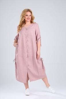 Платье 846 розовый Rishelie