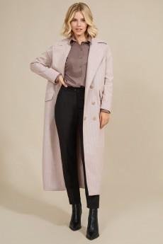 Пальто 1019 бежево-розовый Rivoli
