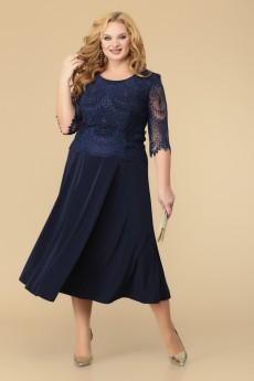 Платье 1-1347 синий-1 Romanovich style