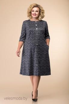 Платье 1-1884 серый Romanovich style