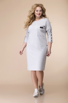 Платье 1-2098 серый Romanovich style