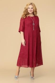 Платье 1-2193 бордо Romanovich style
