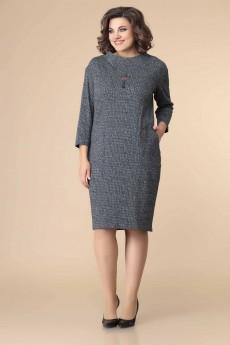 Платье 1-2216 серый + горох Romanovich style