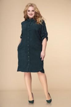 Платье 1-2242 изумруд Romanovich style