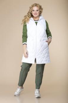 Спортивный костюм 3-2133 белый+хаки Romanovich style