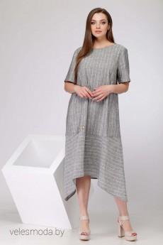 Платье 11008 серая полоска SOVA