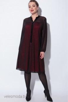 Платье 11048 черно-красный SOVA