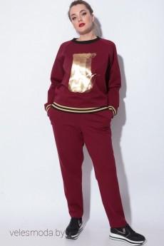 Спортивный костюм 11068 бордо SOVA