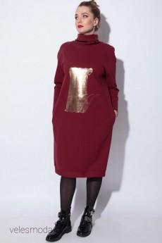 Платье 11069 бордо SOVA