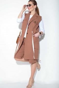 Костюм с шортами 11099оранжево-коричневый SOVA