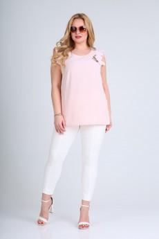 Блузка 430 розовый однотон SOVITA