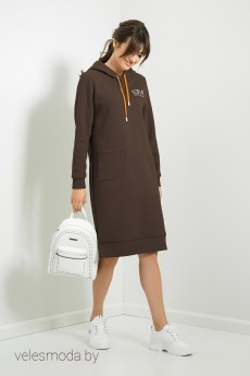 Платье Т83 коричневый Samnari