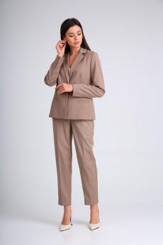 Костюм брючный 130508 серо-коричневый SandyNA